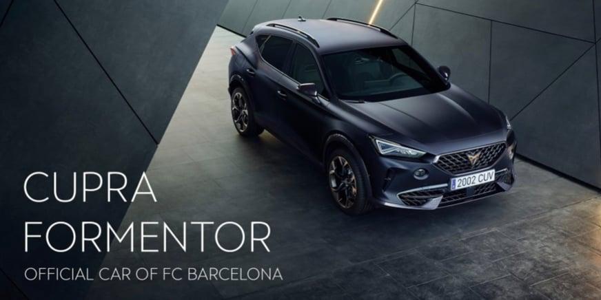 CUPRA Formentor sponsor Barcelona