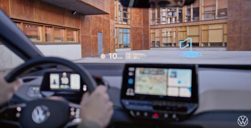 Volkswagen ID.3 Head Up Display con realtà aumentata