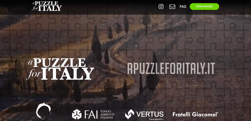 progetto a puzzle for italy