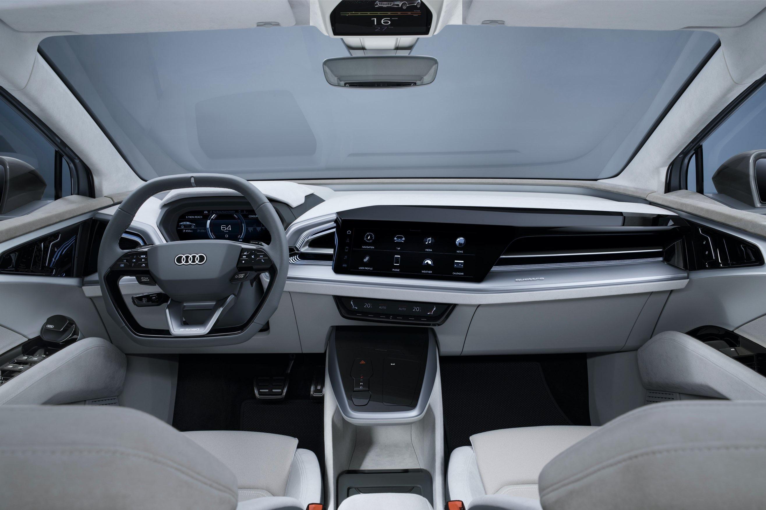Audi Q e tron interni